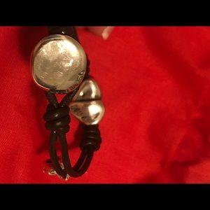 UNO de 50 Jewelry - Uno De 50 Love Heart Leather Bracelet
